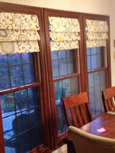 Kitchen Window Treatments DIY Volants Faux Roman Shades 68 Ideas # Design over . Cool Curtains, Rustic Curtains, Curtains Living, Rustic Roman Shades, Faux Roman Shades, Kitchen Window Coverings, Kitchen Window Treatments, Kitchen Patio Doors, Kitchen Blinds