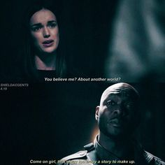 """You believe me? About another world?"" - Simmons and Framework Trip #AgentsOfSHIELD (by shieldacagents)"