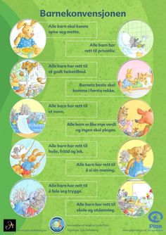 Plakat som viser FNs barnekonvensjon Plan International, Diy And Crafts, Arts And Crafts, Montessori Classroom, Autumn Crafts, Too Cool For School, Classroom Management, Kids And Parenting, Kindergarten