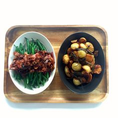 Bean and potatoes sides