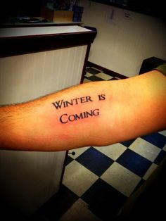 winter is coming tattoo - Google Search