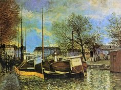 Barges on the Saint Martin Canal.