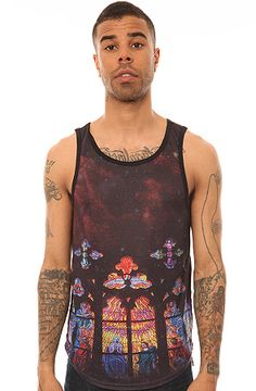 The Stained Glass Tanktop in Black by ARSNL