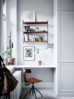 Scandinavian home | photos by Jonas Berg Follow Gravity Home:... Love this little desk area tucked into a kitchen, I think.