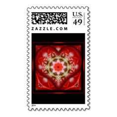 Boxed Heart Design Postage Stamp #zazzle #postage #red #hearts #valentinesday