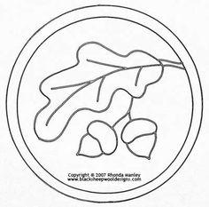 Double Acorn Mat #2