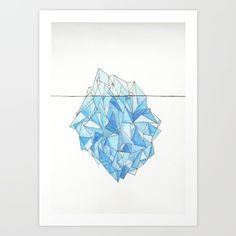 Hand drawn geometric iceberg.