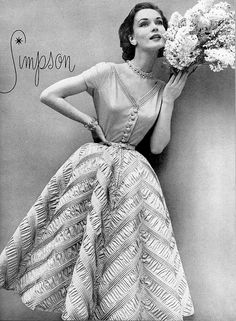 1952 Janet Randy in dress by Adele Simpson
