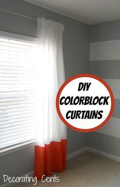 Decorating Cents: Color Block Curtains | DIY decor {textiles ...