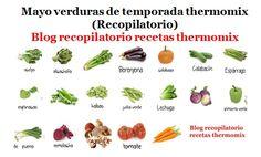 Recopilatorio de recetas thermomix: Mayo verduras de temporada thermomix (Recopilatori...