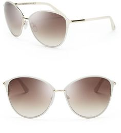 TOM FORD Pink Penelope Oversized Sunglasses - Lyst