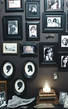 Black and Black and Black. Would love this for the entry way