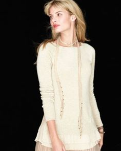 Shirttail Cashmere Sweater Garnet Hill {out of stock!}