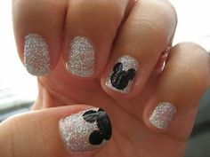 Love the sparkle with the little Mickey ears thrown in...