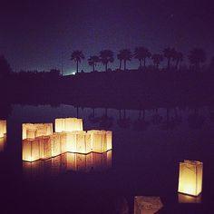 Make a wish boats - Earth Hour in Kuwait كتبنا أمانينا على أشرعة القوارب و via @dalal_d