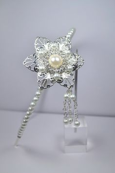 Glamorous Great Gatsby Inspired Floral Bridal by RomanceinSilverAH, $65.00
