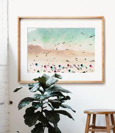 Bird's Eye Beach Print - The Crown Prints Art Plage, Funny Bathroom Art, Coastal Wall Decor, Framed Art, Wall Art, Beach Print, Beach Photography, Printable Art, Art Decor