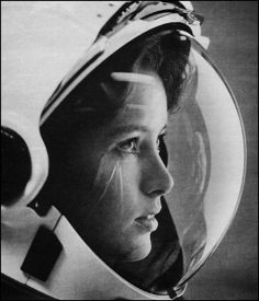 spaceexp:  Stunning photo of astronaut Anna Fisher from Life Magazine via reddit