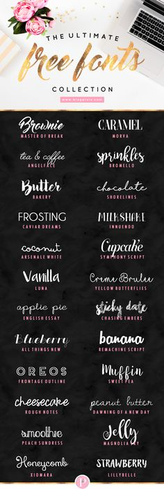 The Ultimate Free Fonts Collection by Blog Pixie - download the best free fonts for bloggers and creatives | www.blogpixie.com