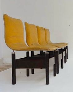 Vittorio Introini; Rosewood and Chromed Steel 'Chelsea' Side Chairs for Saporiti, 1966.