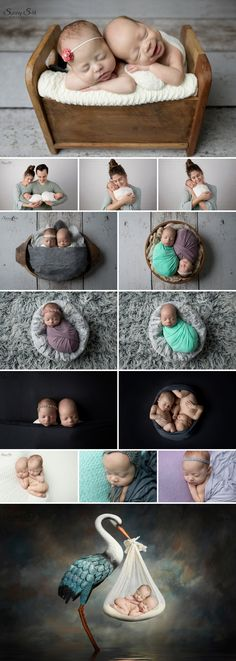5 week old Fraternal twins Katie and Max.  Love this multiples session in studio.  Sunny S-H photography Winnipeg