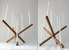 Vintage Teak Candle Holder Danish Modern Laurids by Chixycoco