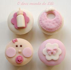 baby shower cupcakes - Buscar con Google