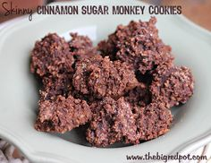 Healthier version of No Bake Chocolate Oatmeal Cookies with PB and Applesauce!