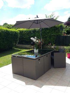 Perugia : salon de jardin 4 places en résine tressée #jardin #été ...