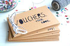Op zoek naar een leuk DIY cadeau? Wat dacht je van een boekje met tegoedbonnen en waardebonnen maken voor activiteiten & speciale momenten? Bekijk de DIY!