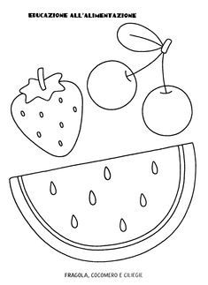 Fruit Coloring Pages, Summer Coloring Pages, Preschool Coloring Pages, Cute Coloring Pages, Disney Coloring Pages, Free Printable Coloring Pages, Coloring Pages For Kids, Mason Jar Holder, Red Day