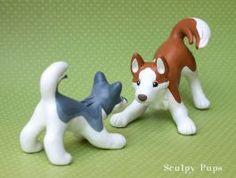 Playful Husky family by SculpyPups