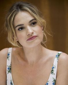 Lily James attends the 'Mamma Mia! Here We Go Again' Press Conference on July Mamma Mia, Hair Inspo, Hair Inspiration, Actress Lily James, Lily Collins, Girl Crushes, Pretty People, Stockholm, Role Models