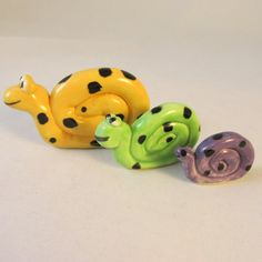 Ceramic Snail Family Trio, great for grand kids projects