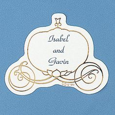 Personalized Cinderella carriage seals add that extra special touch to your fairy-tale wedding day! Customize with your first names and choice of ink color. Lettering style available only as shown. Cinderella Carriage, Cinderella Wedding, Reception Ideas, Wedding Reception, Disney Wedding Invitations, Summer Wedding, Wedding Day, Fairy Tale Theme, Disney Ideas