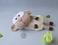 Toy for sleep. Baa-lamb for small babies- knitting pattern (knitted round). Amigurumi Lamb by simplytoys13 on Etsy
