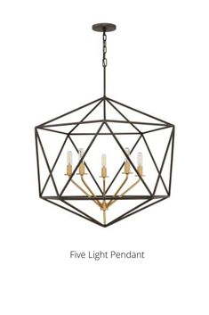 In Metallic Matte Bronze by Hinkley from the Astrid collection. Pendant Lighting, Chandelier, Ceiling Fan, Ceiling Lights, Retro Lighting, Mid-century Modern, Metallic, Mid Century, Bronze