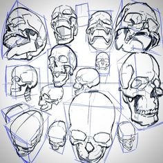 "140 mentions J'aime, 3 commentaires - Tom Fox (@tomfoxdraws) sur Instagram : ""Skulls in perspective. #drawing #lineart #skulls #sketch #perspective #draw"""