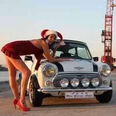 Curved just right! Mini Cooper Classic, Mini Cooper S, Classic Mini, Classic Cars, Mini Morris, Sexy Cars, Hot Cars, Fiat 500, Cars Usa