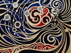 Matariki - Kai tiaho nga whetu i runga by Shane Hansen Maori Symbols, Polynesian Art, Maori Designs, New Zealand Art, Nz Art, Maori Art, Kiwiana, Aboriginal Art, Art Journal Inspiration