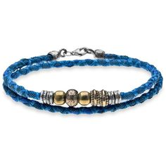 Womens Platadepalo's Denim Collection - Thin Bracelet (€76) ❤ liked on Polyvore featuring jewelry, bracelets, blue, blue bangles, denim jewelry, thin bangles and blue jewelry
