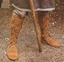 SCA Witches | Medieval leather High Boots SCA LARP RENAISSANCE KNIGHT CRUSADER SHOES ...