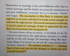 ... how to love & care for the stranger to whom you find yourself married ~ 'The Meaning of Marriage' by Tim Keller