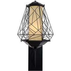"""Varaluz Wright Stuff 33 1/2"""" High Black Outdoor Wall Light ($949) ❤ liked on Polyvore featuring home, outdoors, outdoor lighting, black, outdoor shades, outdoor patio lights, black outdoor lantern and outside yard lights"""