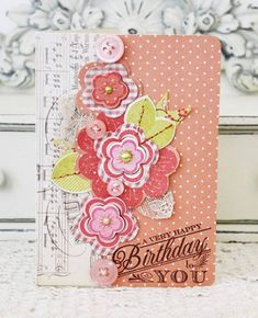Very Happy Birthday Card by Melissa Phillips for Papertrey Ink (May 2013)