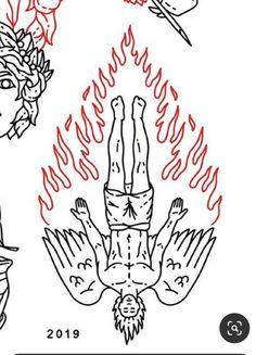 Red Tattoos, Dope Tattoos, Badass Tattoos, Small Tattoos, Tattoos For Guys, Tatoos, Old School Tattoo Designs, Tattoo Designs Men, Tattoo Design Drawings