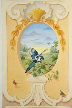 Graham Rust. Mural Projects - Trompe Loeil Mural Grand Manner style