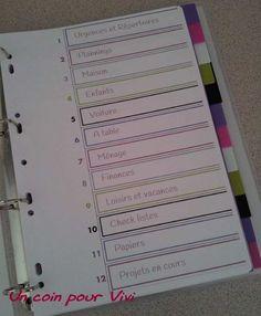 Dans mon classeur de maman organisée, il y a. Diy Organisation, Organization Bullet Journal, Binder Organization, Bullet Journal Week, Flylady, Bullet Journal Inspiration, Life Planner, Filofax, Getting Organized