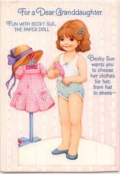 A very cute Birthday card paper doll.  I have a lot of friends with birthday's this month.   this was a gift and gets a rating of...