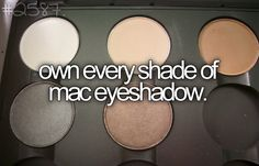 own every shade of mac eyeshadow